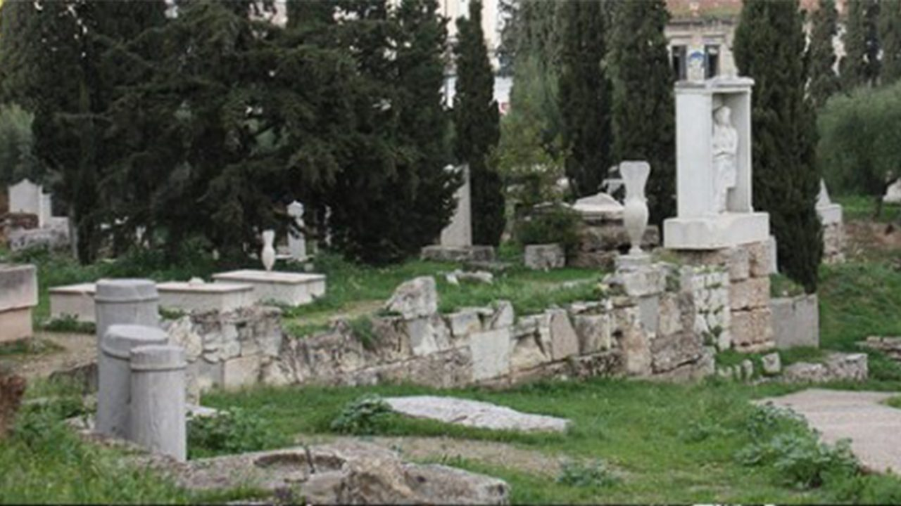 Image of an Athenian Cemetery.