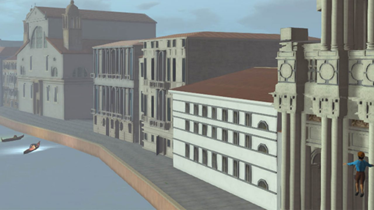 A screen capture from Venice Virtual World, built in Second Life.